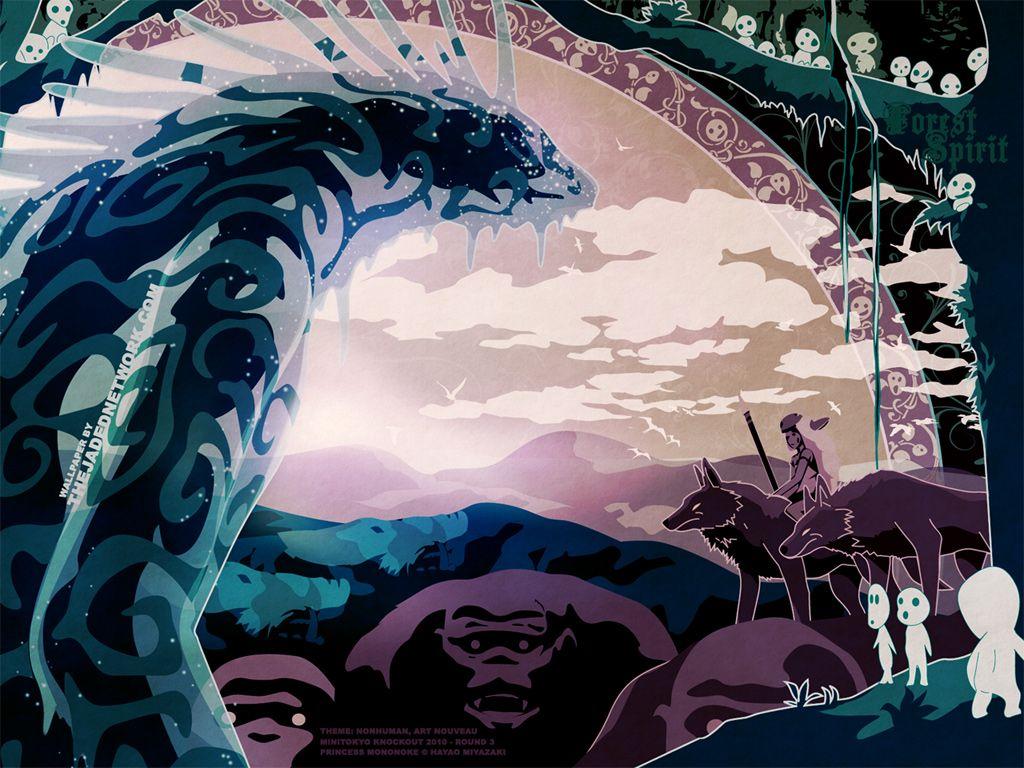Princess Mononoke Wallpaper Forest Spirit Minitokyo Princess Mononoke Wallpaper Forest Spirit Princess Mononoke