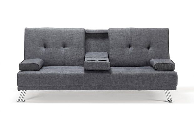 Fabric Sofa Bed 149 With Cup Holder 159 In Choice Of Colour With Free Delivery Up To 63 Off Fabric Sofa Bed Sofa Bed Loft Room