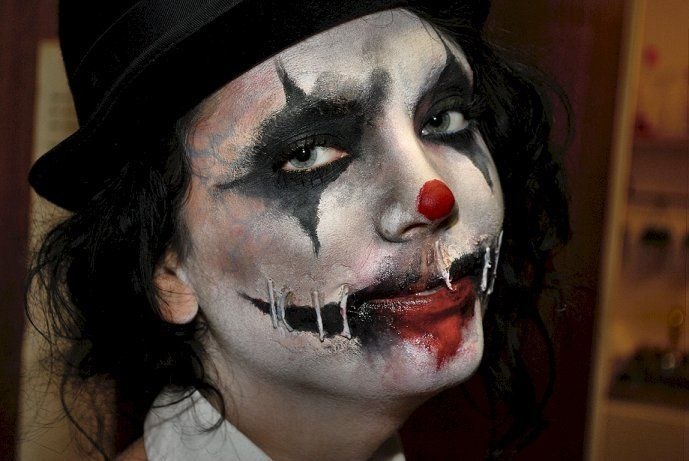 Amazing Scary Clown Makeup | Makeup | Pinterest | Scary clown ...