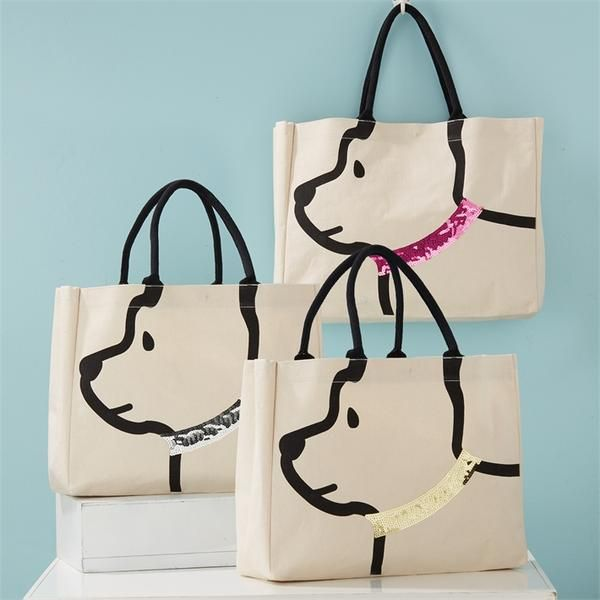 Photo of Sequin Collar Dog Tote