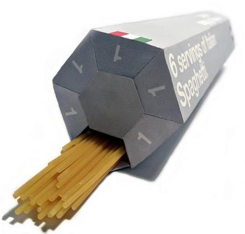 Un packaging para cocinar la porción correcta de pasta