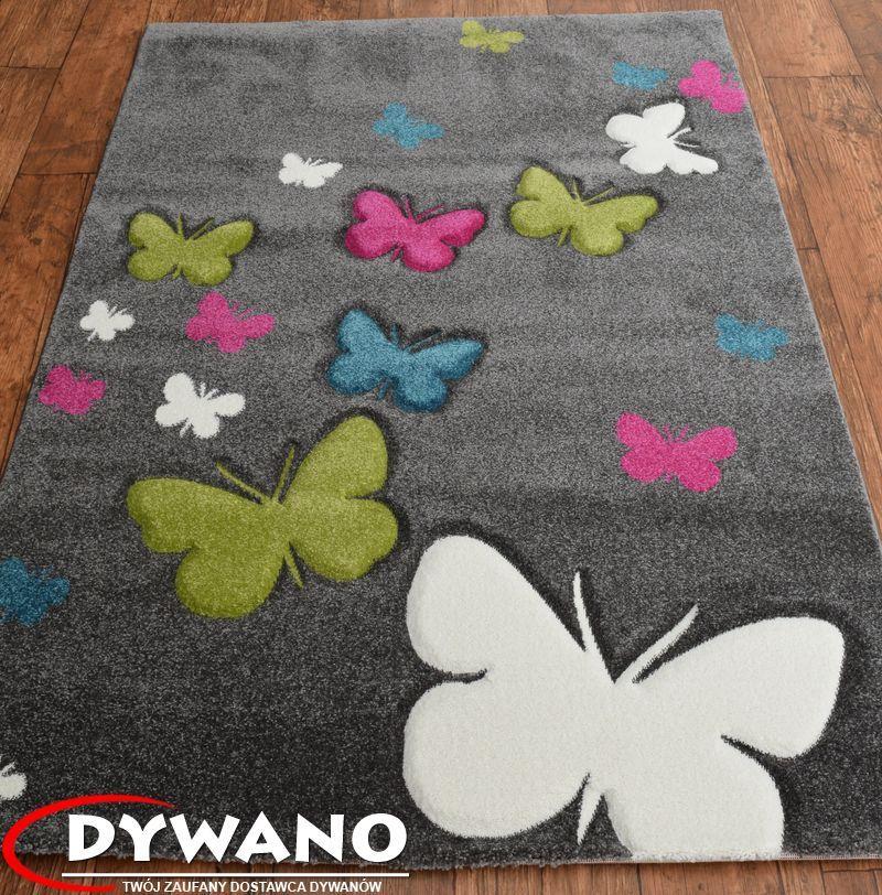 Dywan Mega Kolorowe Motylki Butterfly 3d 80x150