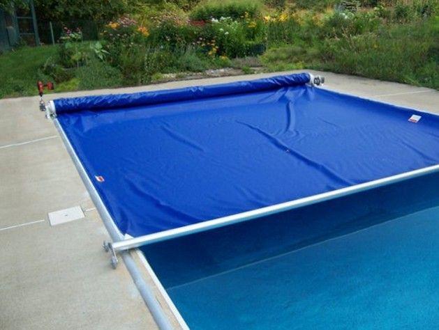 Powertrak economy automatic swimming pool cover 3 pool - Swimming pool safety covers inground ...