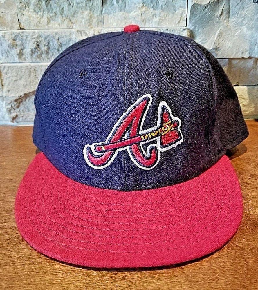 New Era Atlanta Braves Authentic Collection Baseball Cap Hat Size 7 3 8 58 7cm Newera Atlantabraves Hats Atlanta Braves Caps Hats