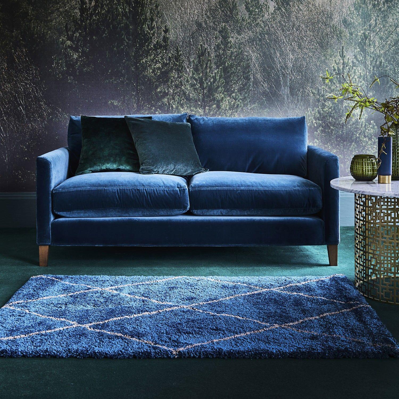 Noble Diamonds Blue Rug Carpet colors, Diamond rugs
