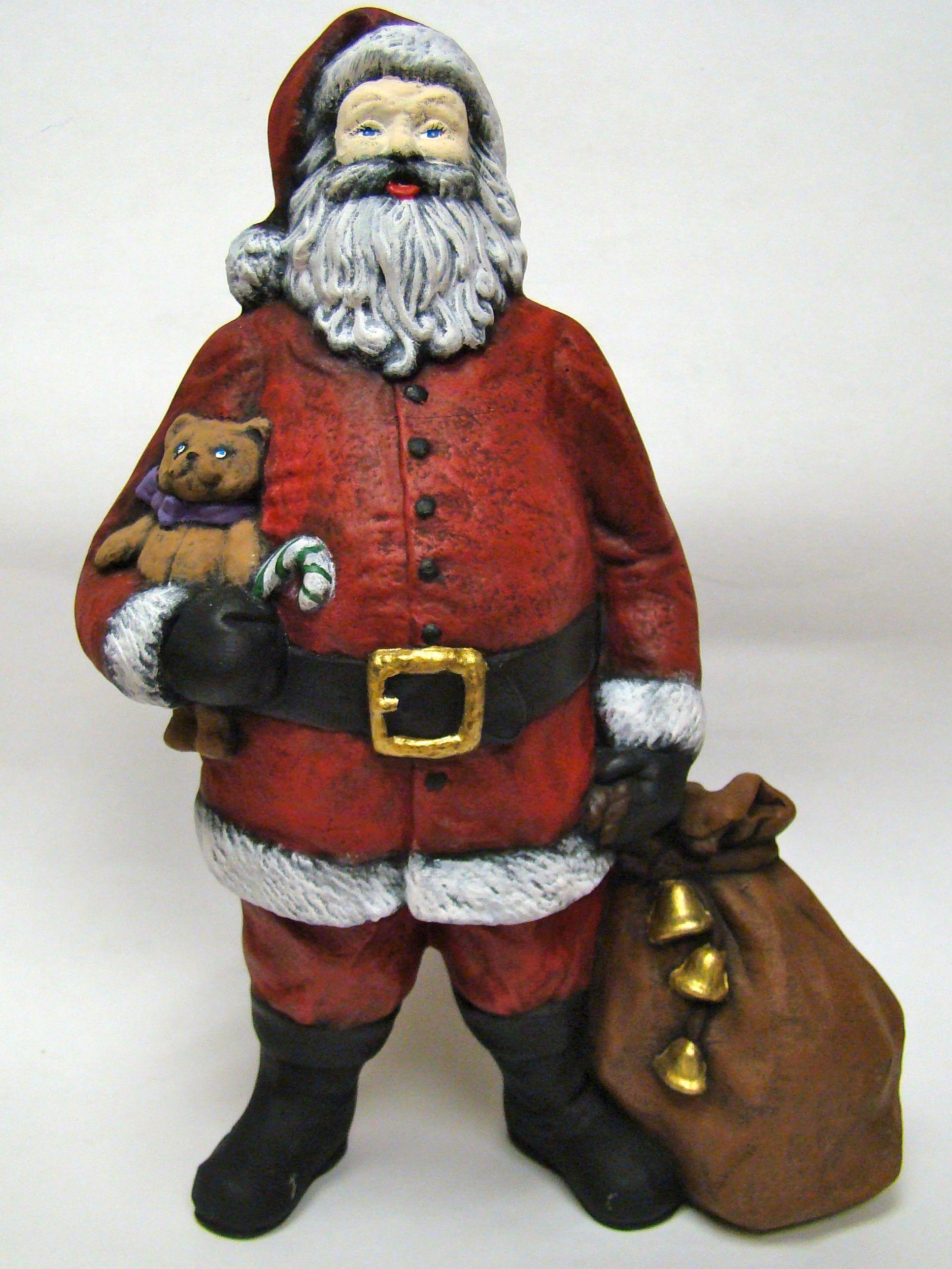 Santa in dry brush