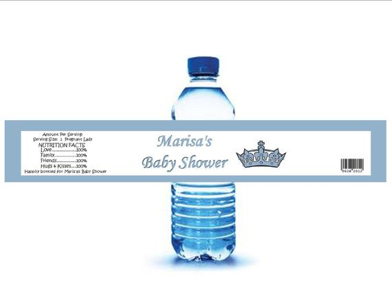 Baby Boy Shower Favors Water Bottle Labels  49 by Raymis on Etsy, $45.00
