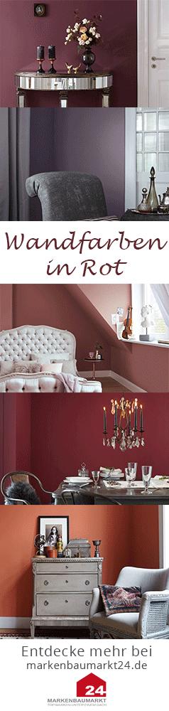 Kontrastfarbe Für Jede Wand Das Tiefe Rot Ist Besonders Im Schlafzimmer  Denkbar. Die Farbe In