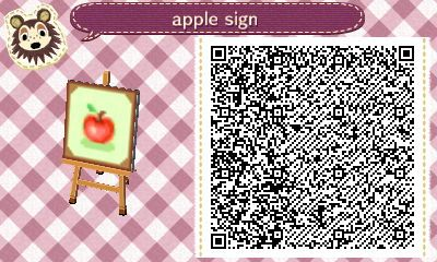 Apple Sign by Quirkberry Animal Crossing New Leaf