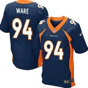 premium selection 6b095 3e1d9 DeMarcus Ware Navy Blue Alternate Men's Stitched NFL Elite ...