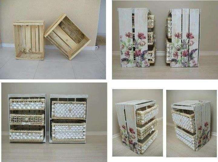 Arredare Casa Con Le Cassette Di Legno Cassette Pinterest
