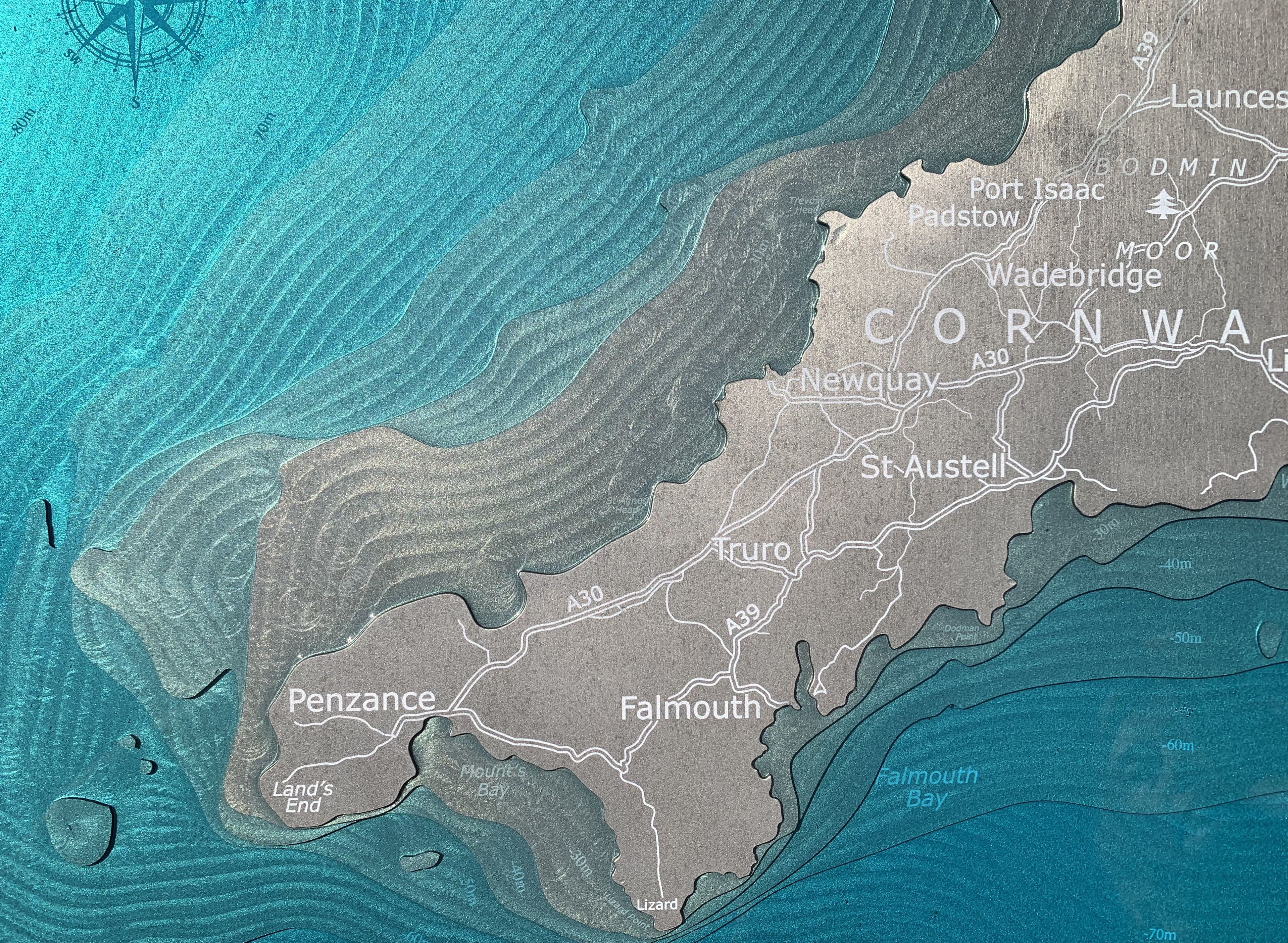 Devon and Cornwall Metal Art in 2020 Cornwall map, Map