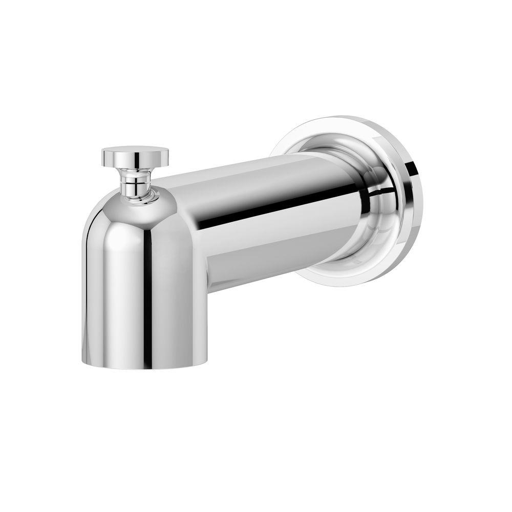 Symmons Museo Tub Spout In Chrome 532tsd The Home Depot In 2020 Tub Spout Symmons Clawfoot Tub Faucet