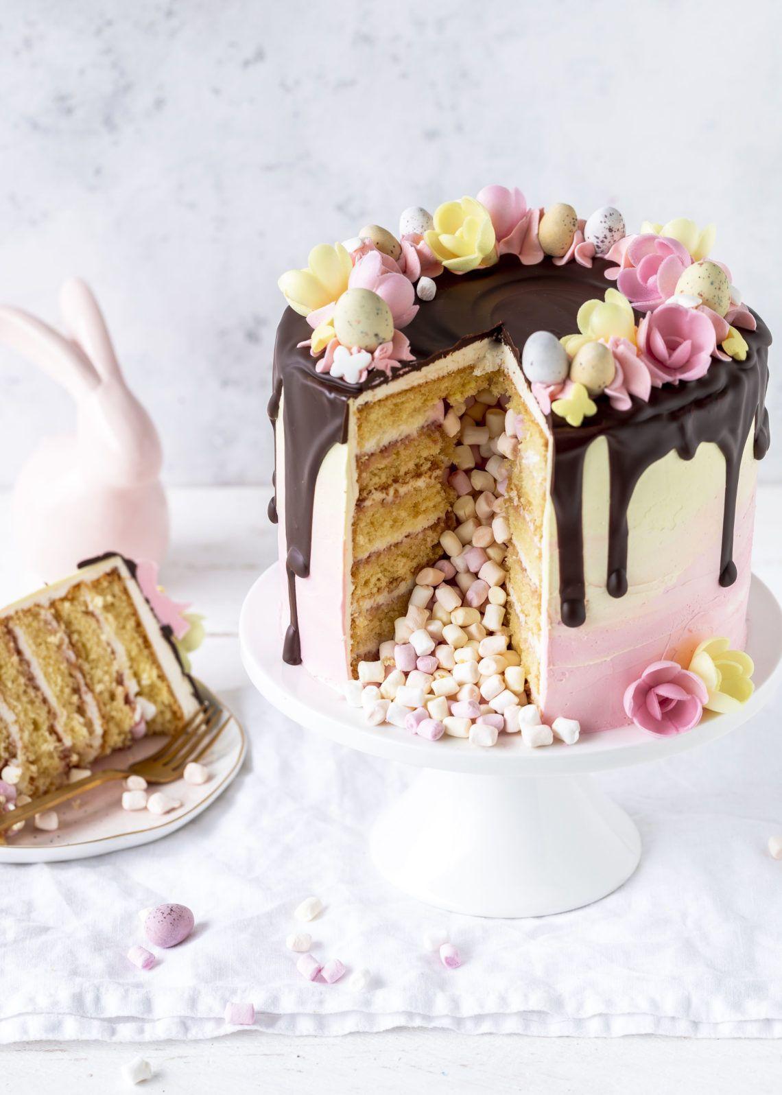 Photo of Werbung – Rezept: Inside Surprise Drip Cake für Ostern Pinata backen Ostertorte…