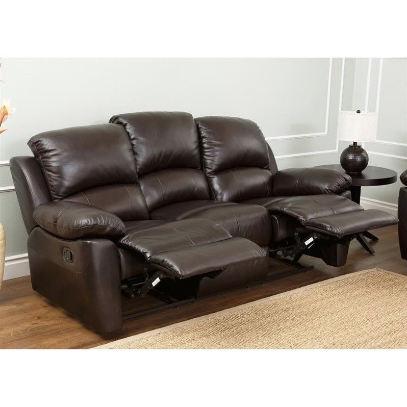 Charmant Abbyson Living Bella Leather Reclining Sofa In Espresso   Sk 1706 Brn 3