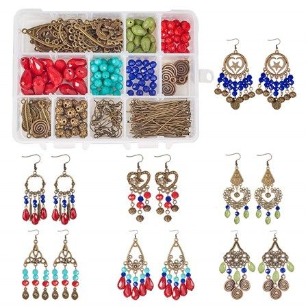 and 3 Color 48pcs Brass Stud Bezel Earrings Settings SUNNYCLUE 1 Box DIY 24 Pairs Mermaid Scales Skin Earrings Making Starter Kit Include 6 Color 48pcs Round Mermaid Scales Skin Resin Cabochons 12mm