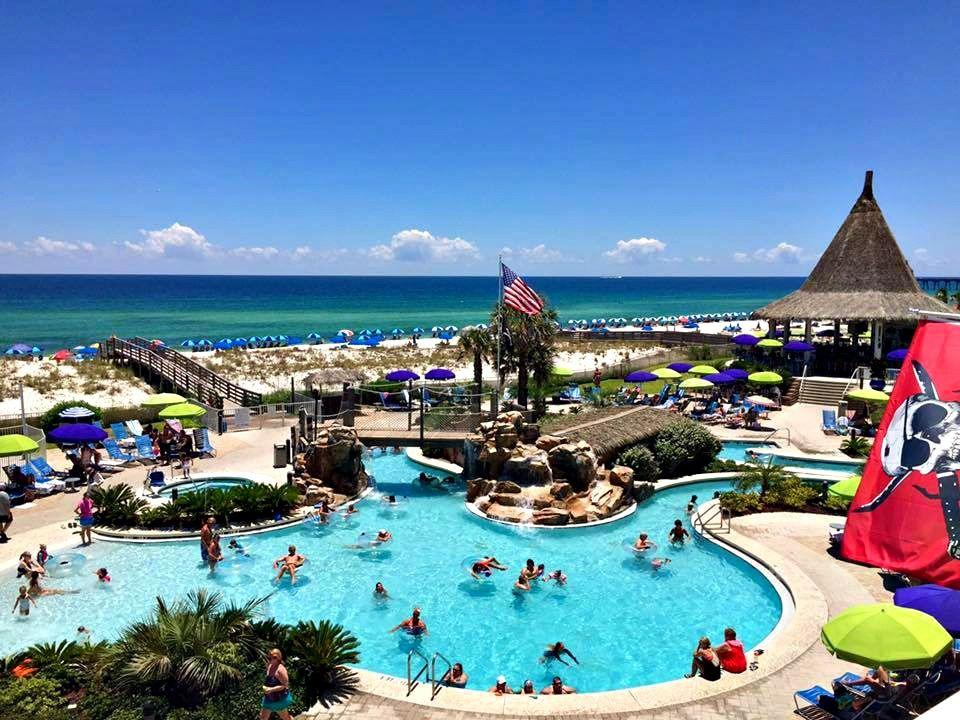 Lazy River Beachfront Pool At Holiday Inn Resort In Pensacola Fl Hotels In Destin Florida Pensacola Beach Florida Vacation