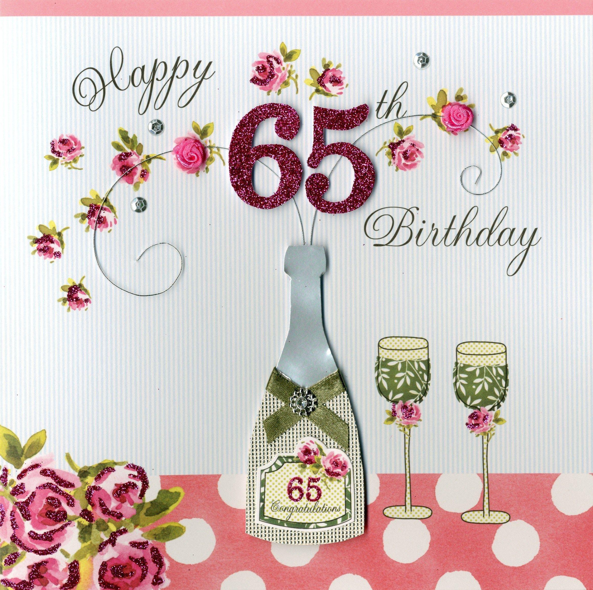 Handmade+Birthday+Cards+And+Gifts.+Happy+65th+Birthday