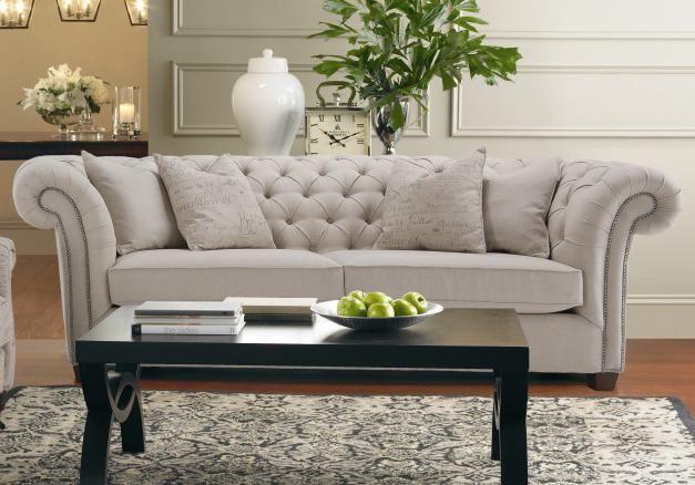 Decor Rest Churchill Tuxedo Sofa With, Gardiners Furniture Towson