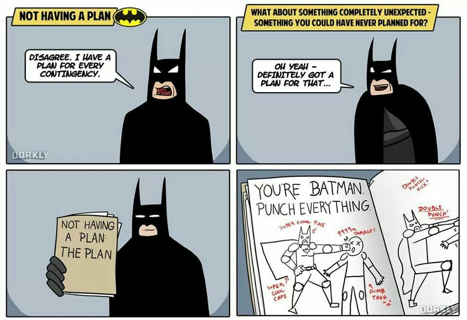 Batman And I Share The Same Contingency Plans Batman How To Plan Batman And Superman