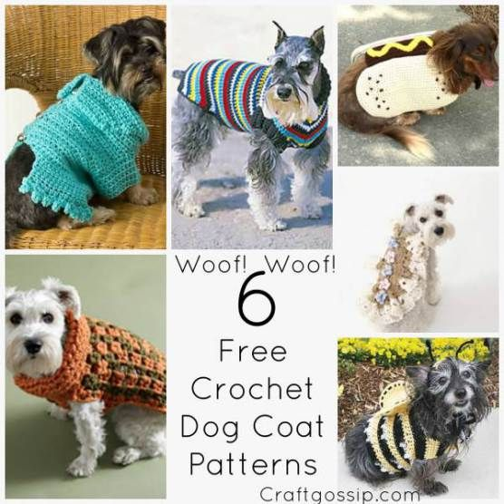 6 Great Dog Coats Patterns To Keep Your Doggie Warm | crochet ...