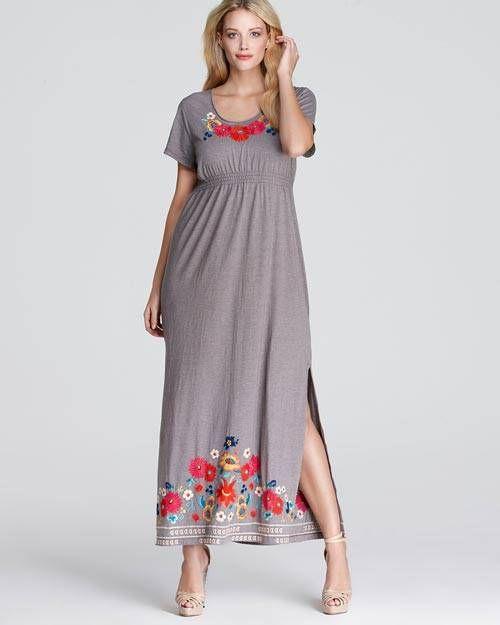 Long summer dresses for plus size women