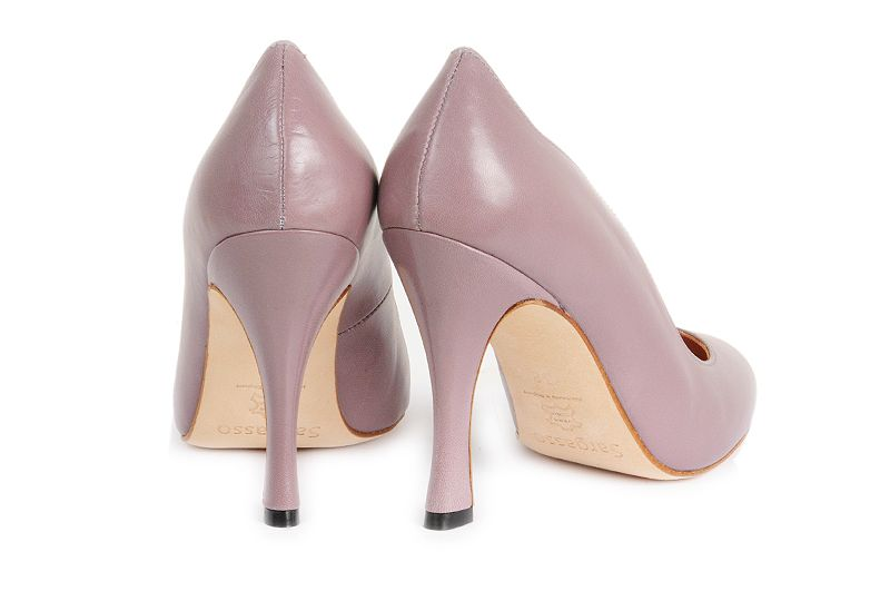 Stunning wide fit Lilac stiletto. Handmade in England from the finest leather kid. Available in sizes 3-9