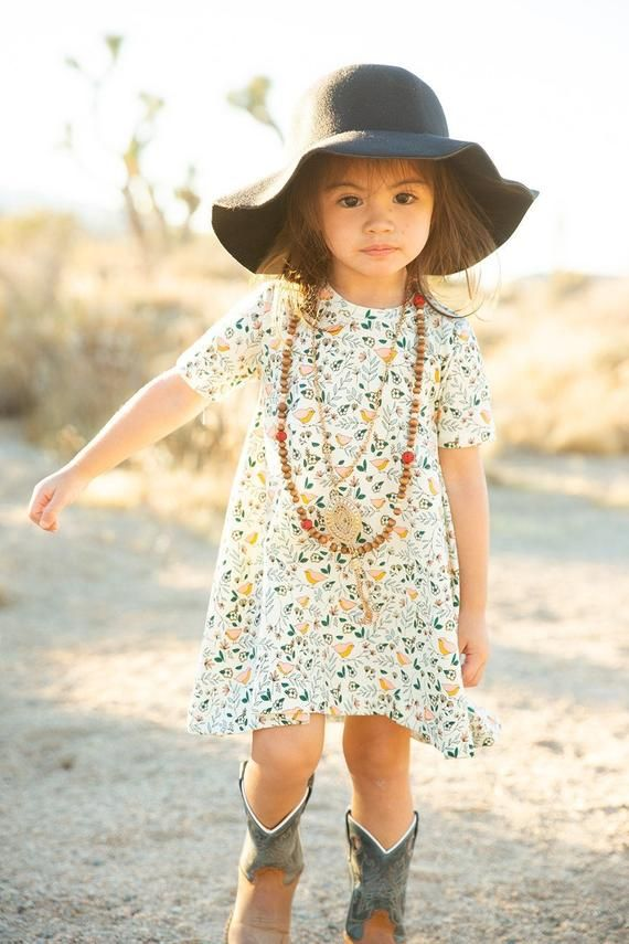 Floral Toddler T-Shirt Dress, Girl Clothes, Little Girl Dress, Toddler Girl Outfits, Baby Dress, flo