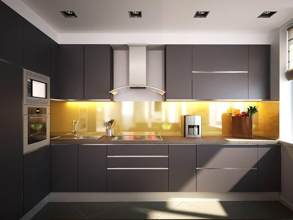 Fotos de Decoración y Diseño de Interiores Estilo minimalista - cocinas pequeas minimalistas
