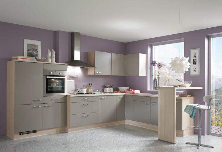 Küche in grau eckküche www dyk360 kuechen de