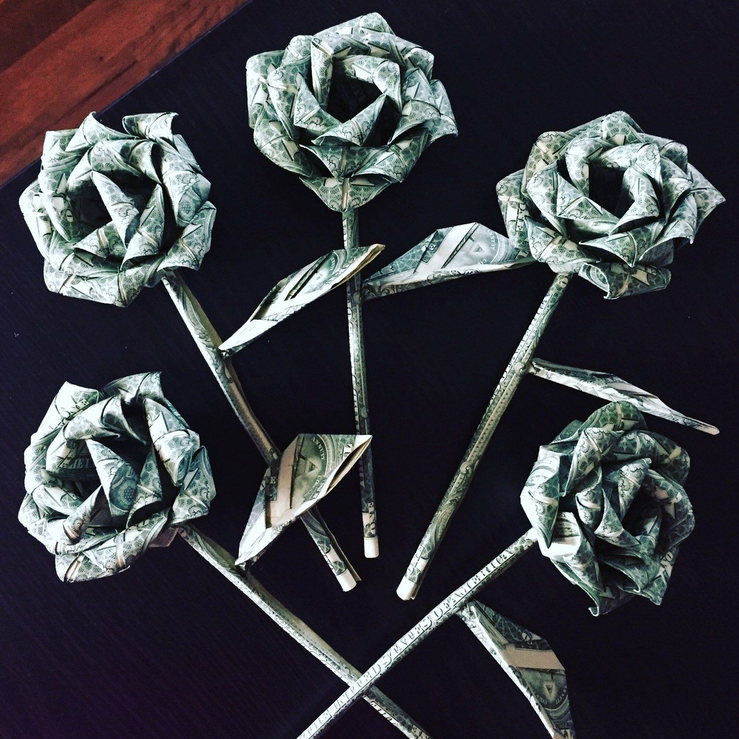 Money roses - money flower - origami money rose - dollar ... - photo#8