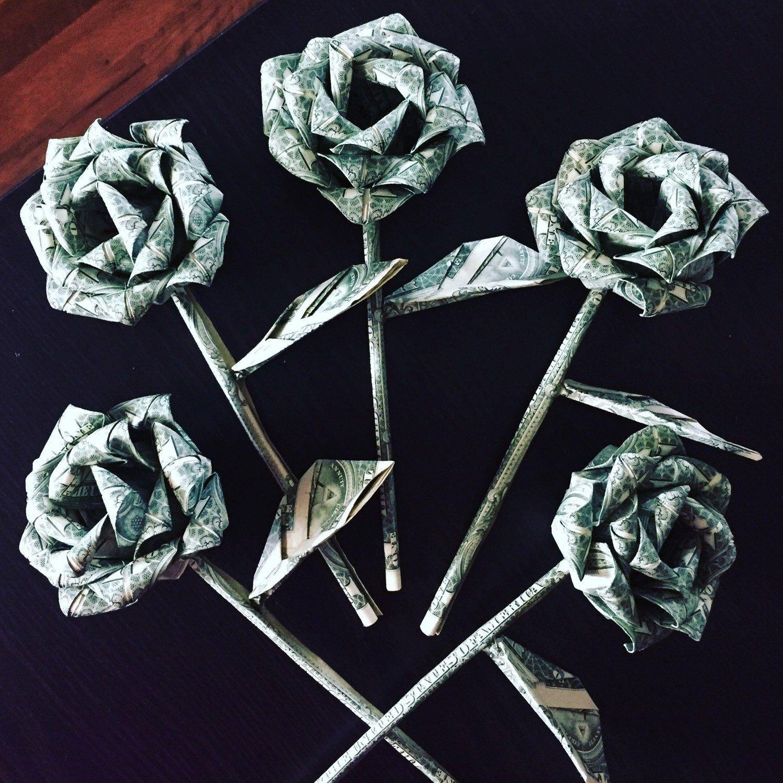 Money roses - money flower - origami money rose - dollar ... - photo#9