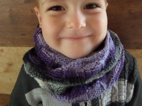 Вязаный шарф снуд круговыми спицами. Вязание спицами. - YouTube