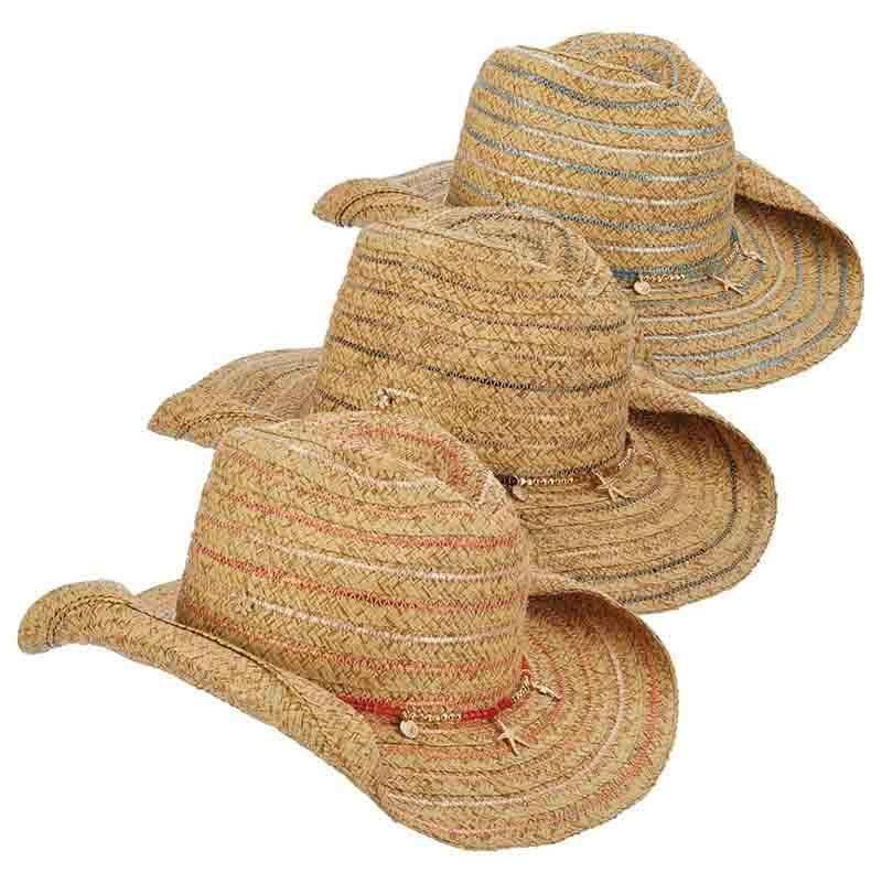 00d1a17011ae8 Braided Cowboy Hat with Metallic Accent - Cappelli Straworld — SetarTrading  Hats