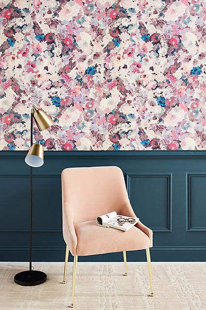 Helen Dealtry Aquarelle Floral Wallpaper Modern Floral Wallpaper