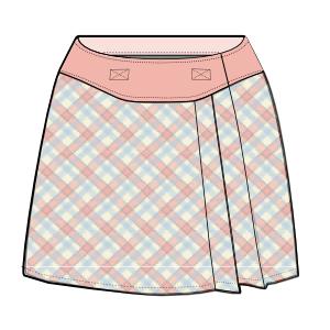 Patronaje industrial: patrones moldes ropa para marcas de nivel mundial Falda de gamuza 675 NENAS Faldas