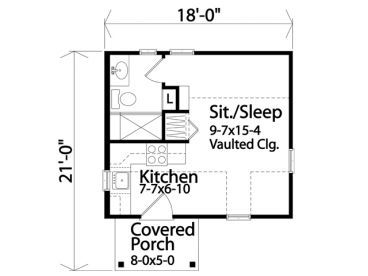 Floor Plan 16x18 If You Take Away The Porch Part With Images