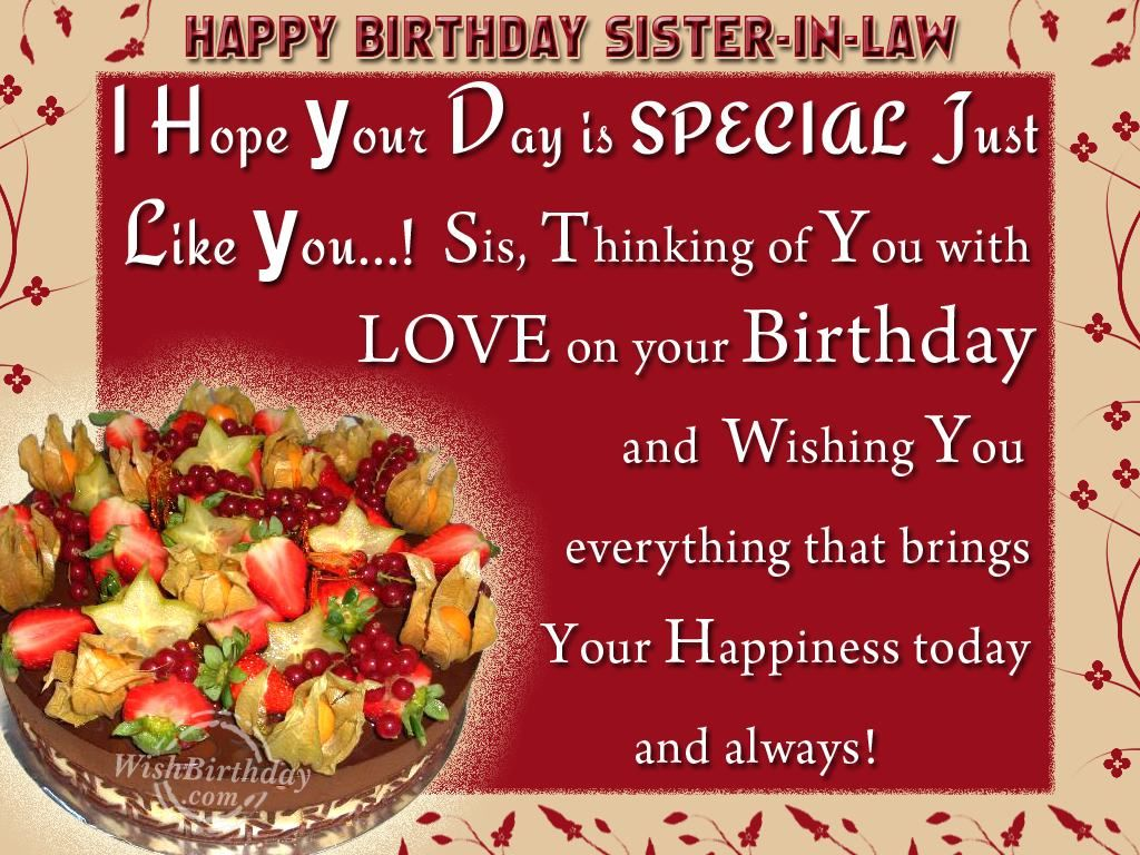 Happy Birthday Wishes Sister In Law 25877wall Jpg Happy Birthday Wishes For Your