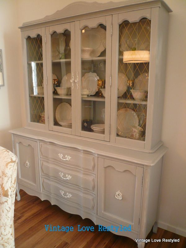 A China Cabinet I Restyled Using Latex Behr Paint Vintageloverestyled Behrpaint