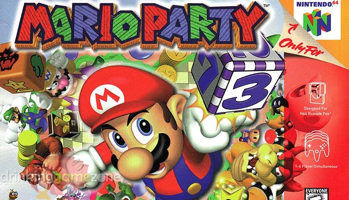 The Mario Party Drinking Game Takes One Of The Best Multiplayer Games On Nintendo 64 And Spices It Up By Adding Alcoh Drinking Games Mario Party Drinking Party