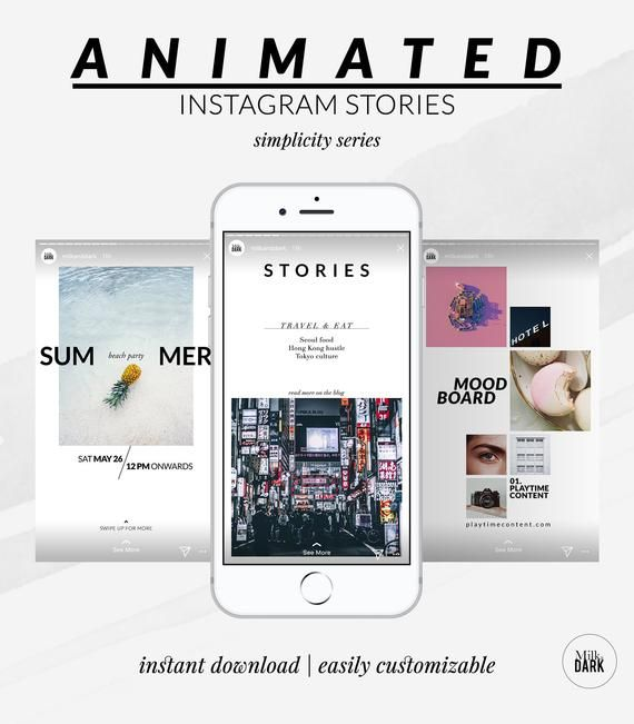 Animated Instagram Story Template, Social Media Template