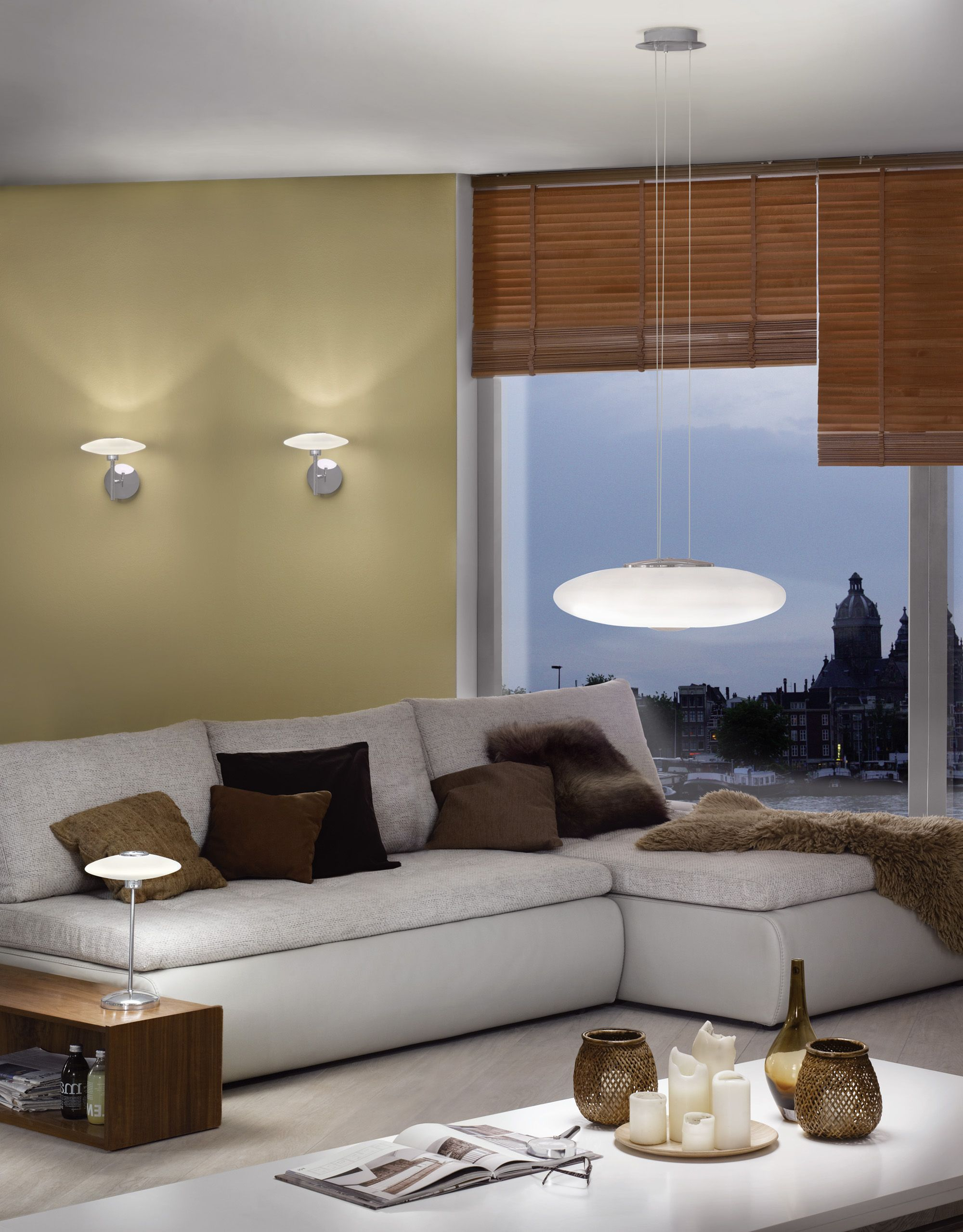 Eglo Melina Family With Pendant Lamp 91594, Wall Lamp 91596 And Table Lamp  91597 #