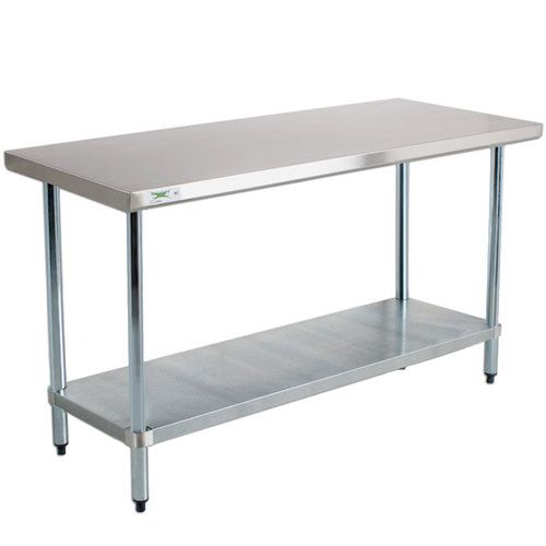 Regency 24 X 48 18 Gauge 304 Stainless Steel Commercial Work Table With Galvanized Legs And Undershelf Stainless Steel Work Table Stainless Steel Table Steel Table