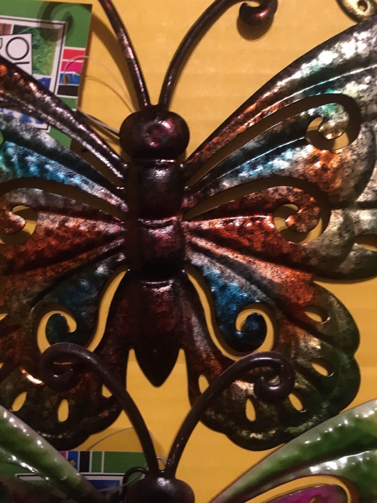 piece metal butterfly wall art hanging wall decor outdoor indoor