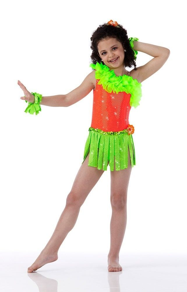 2e00dfb72d45 HULA BABY Ice Skating Tap Hawaiian Dancewear Dance Costume Child & Adult  Sizes #Cicci
