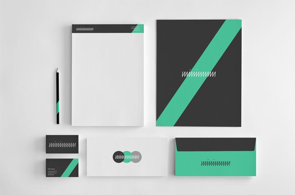 Minimal #Branding Identity   Notepad, Presentation Folder ...