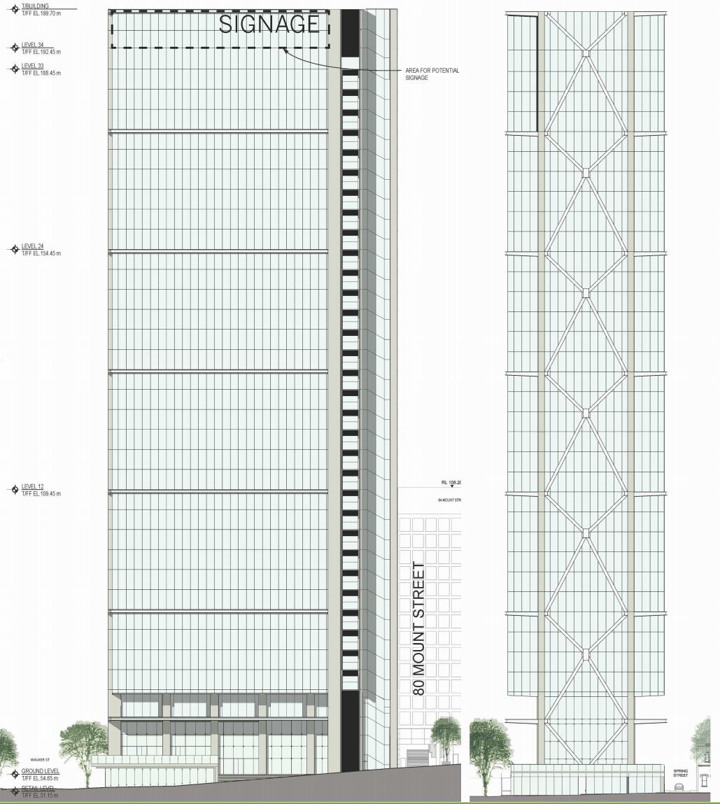 Elevations 100 Mount Street Street Modern Buildings Facade