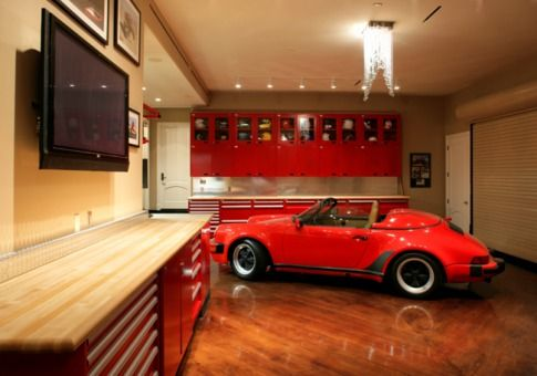 8 Car Climate Controlled Garage With Hardwood Floors And Chandeliers In Las Vegas