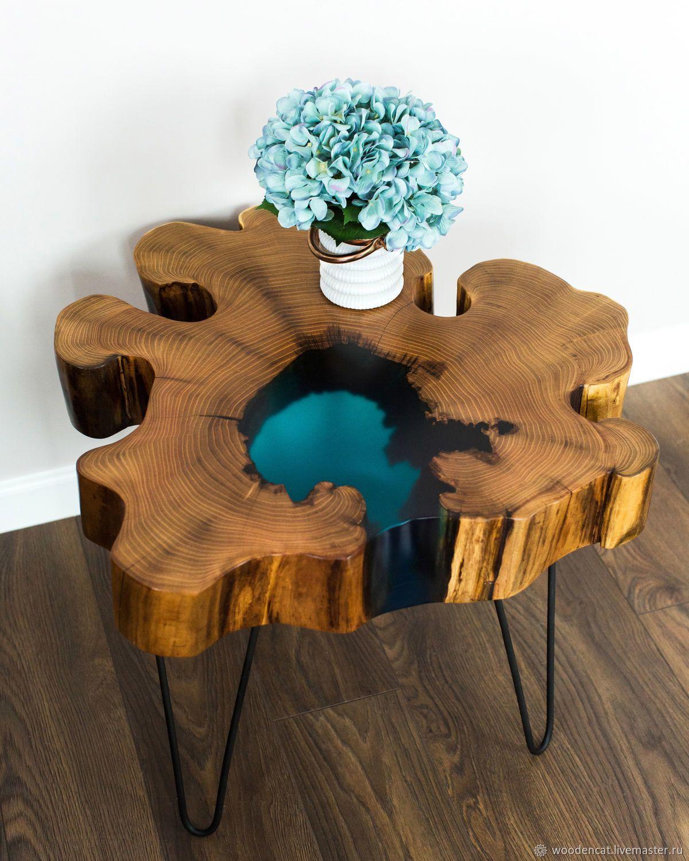 Wooden Coffee Table Stol S Ozerom Iz Spila Akacii Woodencat Kupit V Internet Magazine Na Yarmarke Masterov Wood Resin Table Resin Table Resin Furniture [ 1500 x 1200 Pixel ]