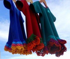Vestidos olas de Rocío #crochetdress #crochet